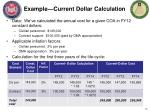 example current dollar calculation