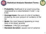 statistical analysis standard t erms
