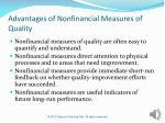 advantages of nonfinancial measures of quality
