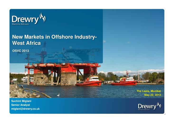 new markets in offshore industry west africa n.