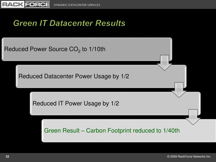 Green IT Datacenter Results