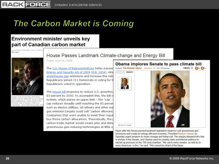 The Carbon Market is Coming