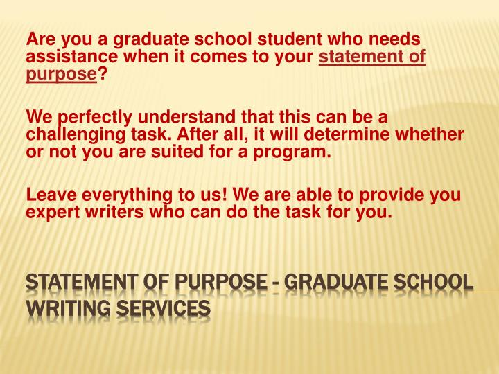 statement of purpose graduate school writing services n.