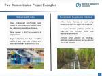 two demonstration project examples