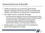 government use of aircraft