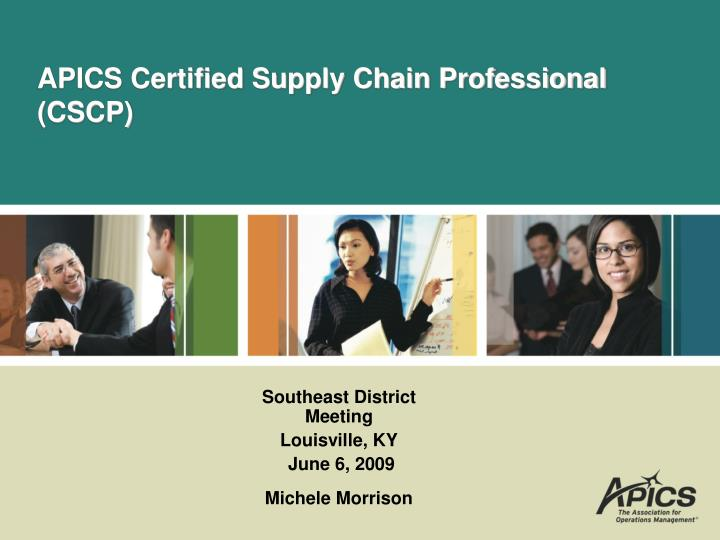 apics certified supply chain professional cscp n.