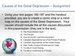 causes of the great depression assignment