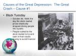 causes of the great depression the great crash cause 1