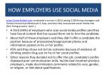 how employers use social media1