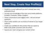 next step create your profile s