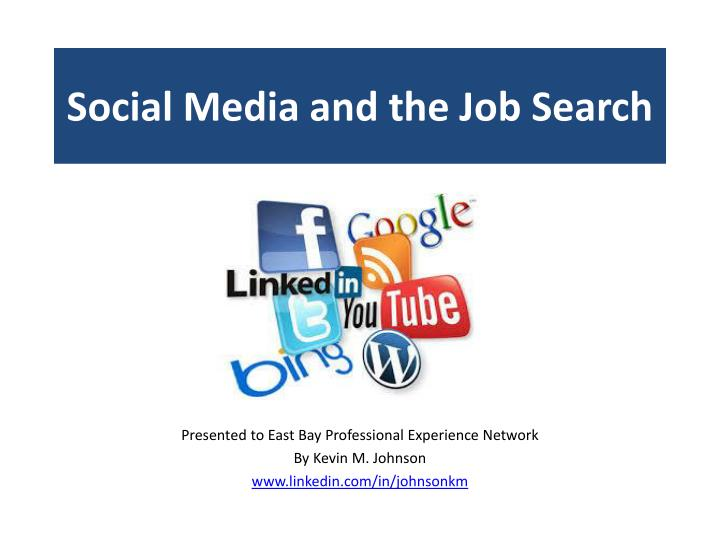 social media and the job search n.