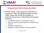 designing the cgri for mongolian soes