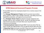 eprc balanced scorecard program process