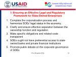 i ensuring an effective legal and regulatory framework for state owned enterprises