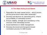 ii the state acting as an owner
