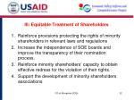 iii equitable treatment of shareholders