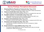 survey findings perceptions discussed