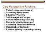care management functions
