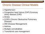 chronic disease clinical models