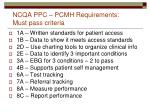 ncqa ppc pcmh requirements must pass criteria