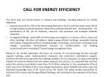 call for energy efficiency1