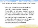 hud section 3 business concern certification process3