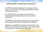 hud section 3 business concerns