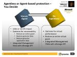 agentless or agent based protection you decide