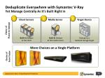 deduplicate everywhere with symantec v ray yet manage centrally as it s built right in