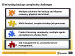 eliminating backup complexity challenges
