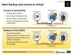 new backup and convert to virtual
