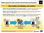 unite physical and virtual environment protection