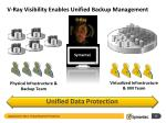 v ray visibility enables unified backup management