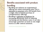 benefits associated with product bundling