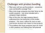 challenges with product bundling
