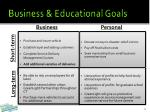business educational goals