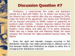 discussion question 7