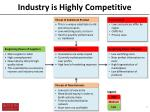 industry is highly competitive