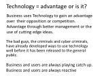 technology advantage