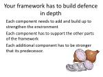 your framework has to build defence in depth