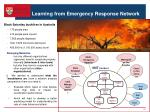 learning from emergency response network