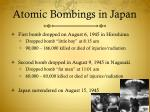 atomic bombings in japan