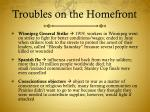 troubles on the homefront