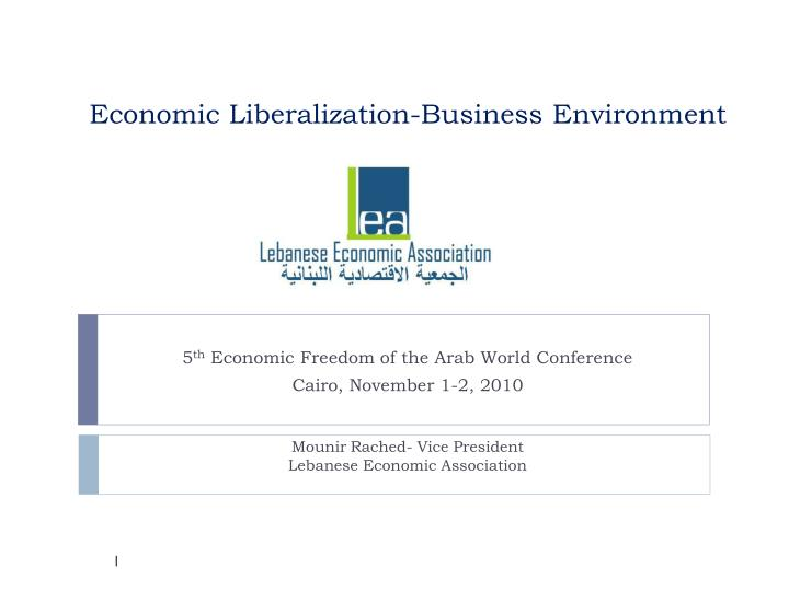 economic liberalization business environment n.
