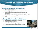 changes for pre firm structures1