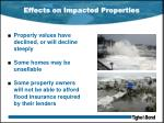effects on impacted properties