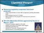 legislative changes