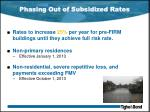 phasing out of subsidized rates