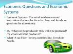 economic questions and economic systems
