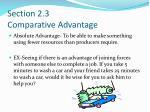 section 2 3 comparative advantage